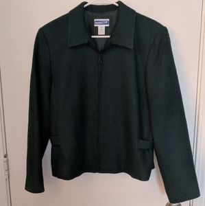Vintage Pendleton wool dark green Blazer
